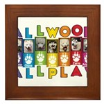 All WOOF All PLAY Framed Tile