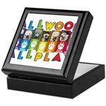 All WOOF All PLAY Keepsake Box