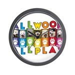 All WOOF All PLAY Wall Clock