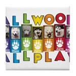 All WOOF All PLAY Tile Coaster
