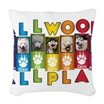 All WOOF All PLAY Woven Throw Pillow