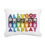 All WOOF All PLAY Rectangular Canvas Pillow