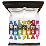 All WOOF All PLAY King Duvet