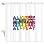 All WOOF All PLAY Shower Curtain
