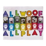 All WOOF All PLAY Throw Blanket