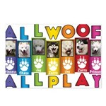 All WOOF All PLAY Postcards (Package of 8)
