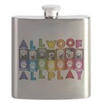 All WOOF All PLAY Flask
