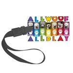 All WOOF All PLAY Luggage Tag