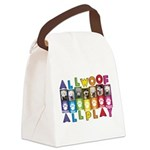 All WOOF All PLAY Canvas Lunch Bag