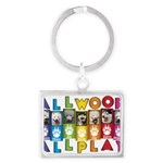 All WOOF All PLAY Keychains