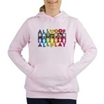 All WOOF All PLAY Women's Hooded Sweatshirt