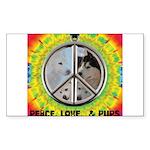 Peace Puppies 3.10.2014 Sticker
