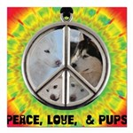 Peace Puppies 3.10.2014 Square Car Magnet 3