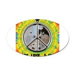 Peace Puppies 3.10.2014 Oval Car Magnet