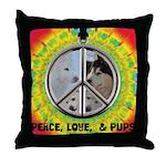 Peace Puppies 3.10.2014 Throw Pillow