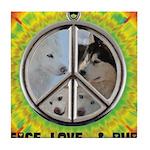 Peace Puppies 3.10.2014 Tile Coaster