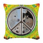 Peace Puppies 3.10.2014 Woven Throw Pillow
