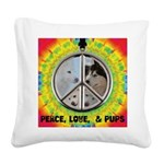 Peace Puppies 3.10.2014 Square Canvas Pillow