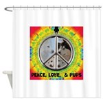 Peace Puppies 3.10.2014 Shower Curtain