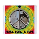Peace Puppies 3.10.2014 Throw Blanket