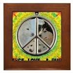 Peace Puppies 3.10.2014 Framed Tile