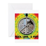 Peace Puppies 3.10.2014 Greeting Cards