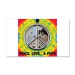 Peace Puppies 3.10.2014 Car Magnet 20 x 12