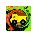 Dump Truck on Abstract Sticker