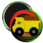Dump Truck on Abstract Magnets