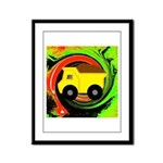 Dump Truck on Abstract Framed Panel Print