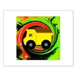 Dump Truck on Abstract Posters