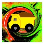 Dump Truck on Abstract Invitations
