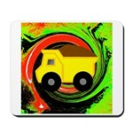 Dump Truck on Abstract Mousepad