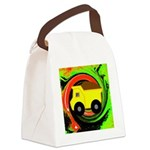 Dump Truck on Abstract Canvas Lunch Bag