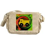 Dump Truck on Abstract Messenger Bag
