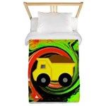 Dump Truck on Abstract Twin Duvet