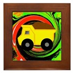 Dump Truck on Abstract Framed Tile
