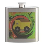 Dump Truck on Abstract Flask