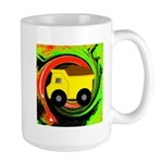 Dump Truck on Abstract Mugs