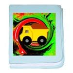 Dump Truck on Abstract baby blanket