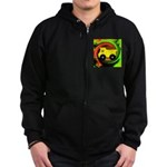 Dump Truck on Abstract Zip Hoodie