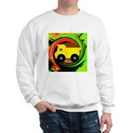 Dump Truck on Abstract Sweatshirt