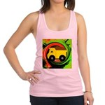 Dump Truck on Abstract Racerback Tank Top