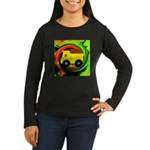 Dump Truck on Abstract Long Sleeve T-Shirt