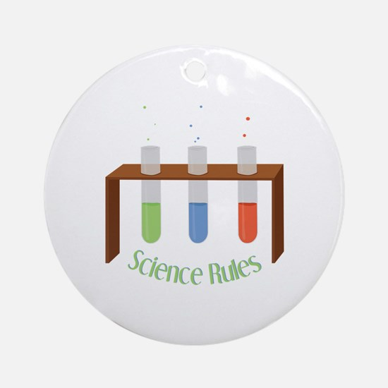 Science Rules Ornament (Round)