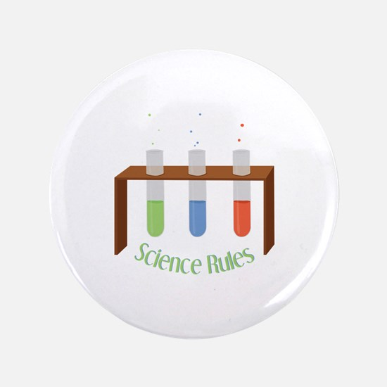 "Science Rules 3.5"" Button"