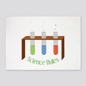 Science Rules 5'x7'Area Rug