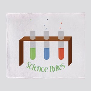 Science Rules Throw Blanket