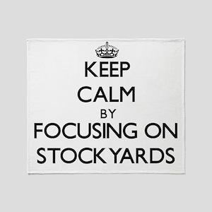 Keep Calm by focusing on Stockyards Throw Blanket