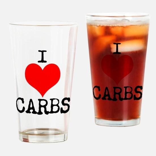I heart Carbs Drinking Glass